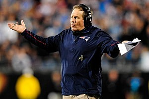 Bill Belichick hands up