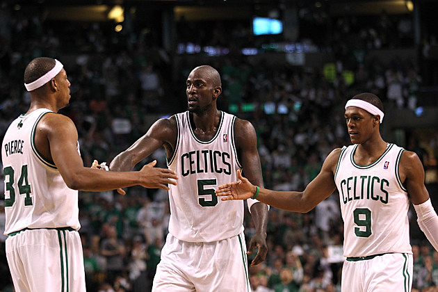 Paul Pierce, Kevin Garnett and Rajon Rondo - Boston Celtics