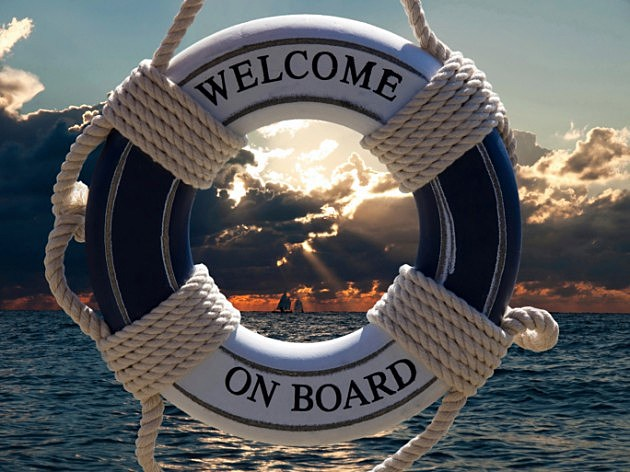 welcome on board boat raft