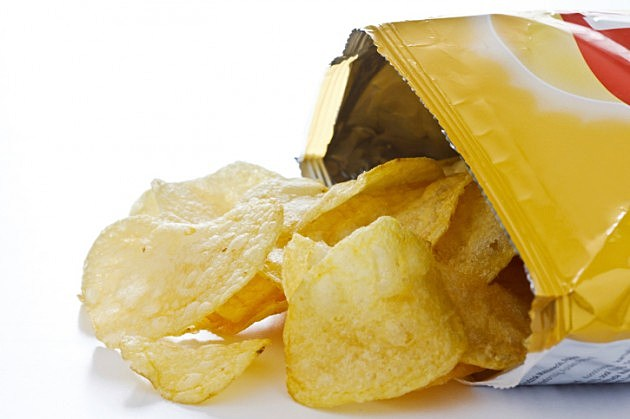 potato chips out of bag