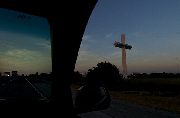 AUGUST 06, 2006 - EFFINGHAM, IL - The Cross at the Croosroads in Effingham, IL. The cross is located at the intersection of Interstate highwayd 57 and 70, it stands 198 feet tall and is viewed by some 53,600 people each day. . (STAFF PHOTO BY CRAIG F. WAL